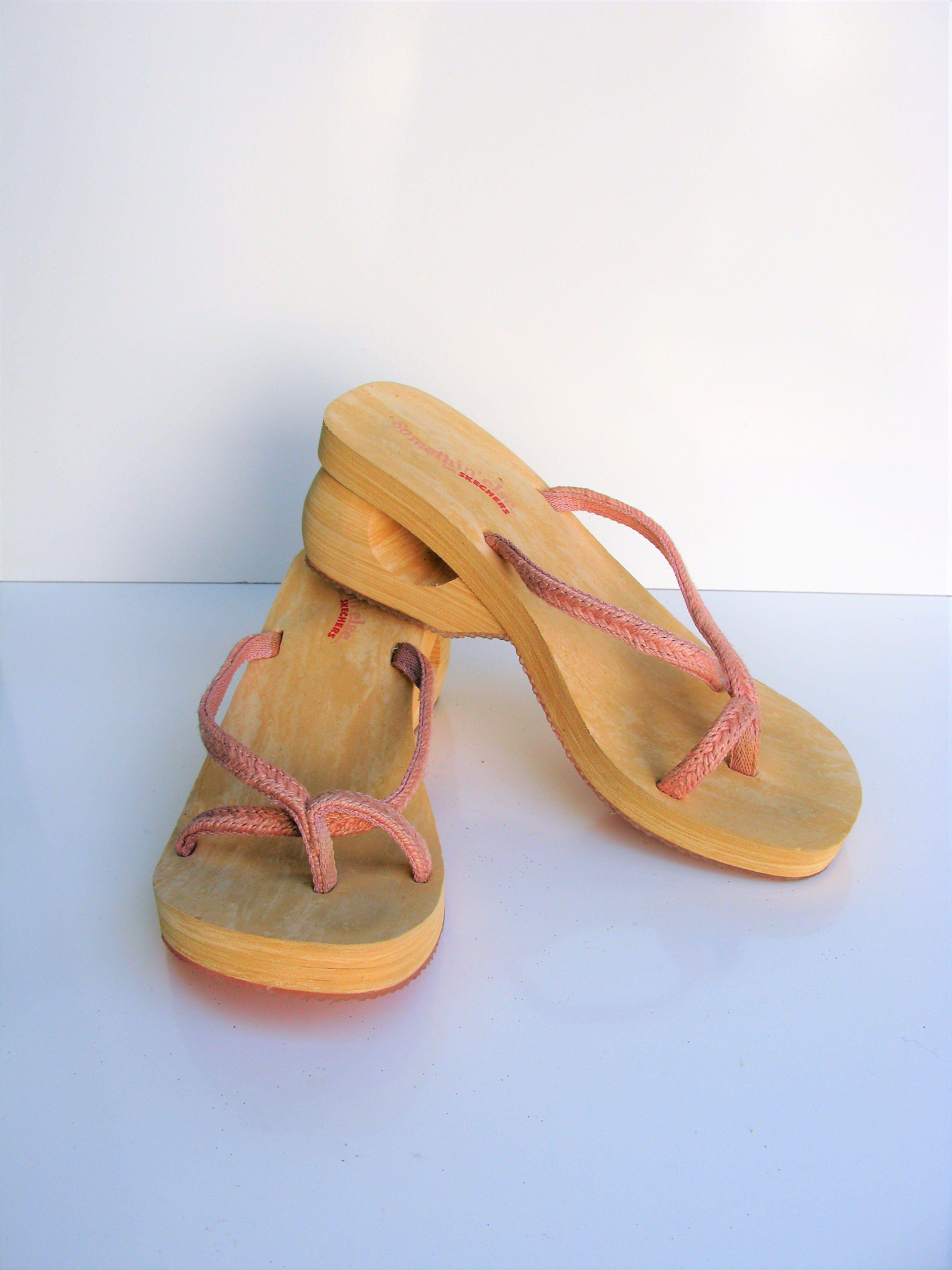 7090cd689da2 Somethin else Skechers Wedge Flip Flop Sandal 9