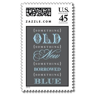 something blue bridal shower stamp