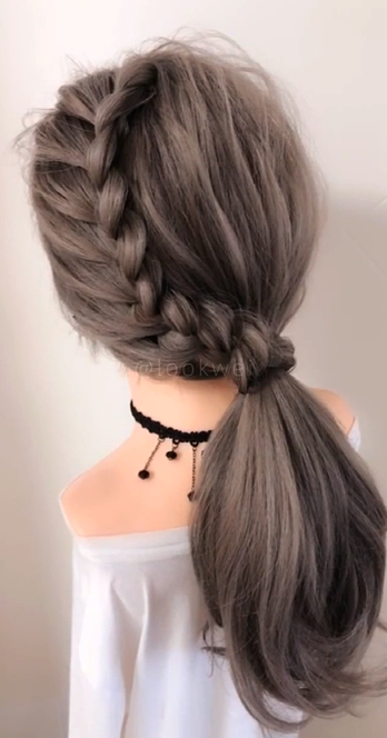 Easy Hairstyle Girls Girls Easy Hairstyle Cute Hairstyle Girls Quick Hairstyle For Girls Cute Hairsty Braided Hairstyles Hair Braid Videos Long Hair Styles