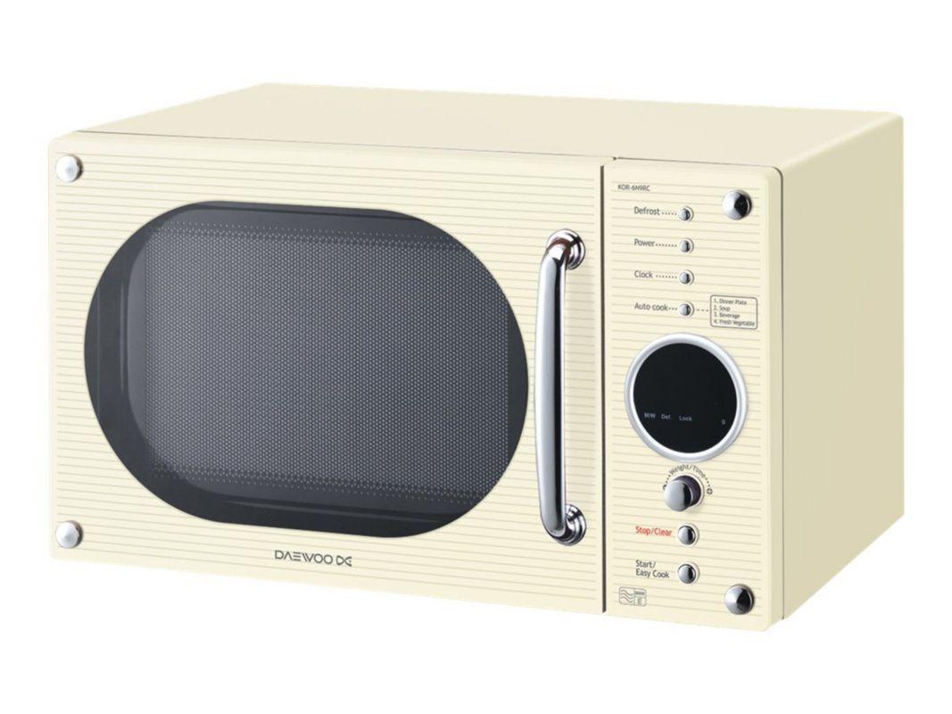 Daewoo KOR6N9RC - microwave oven - freestanding - cream Price ...