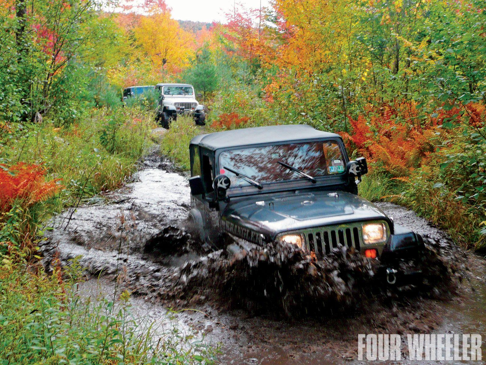 20th Anniversary Maine Mountains Jeep Jamboree Water Crossing Jeep Trails Jeep Jamboree Jeep Wrangler Yj