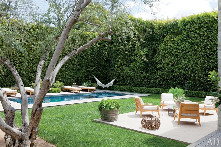 Designer Jenni Kayne's Family-Friendly Los Angeles Home Photos | Architectural Digest,Landscape architect Pamela Burton conceived the grounds. Just a great outside space, would love to have that on a roof here in Manhattan somewhere.....RR