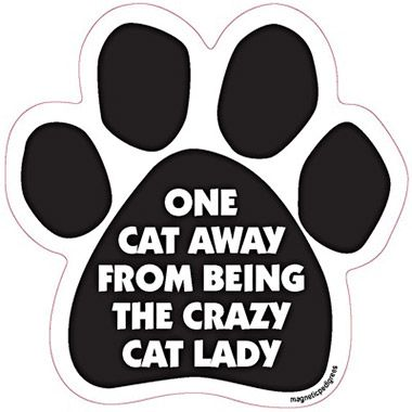 Paw Magnet One Cat Away From Being The Crazy Cat Lady Crazy