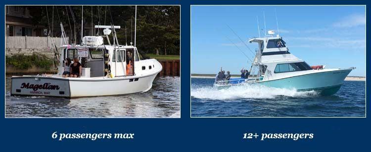 6 passenger sportfishing boat and 12 passenger