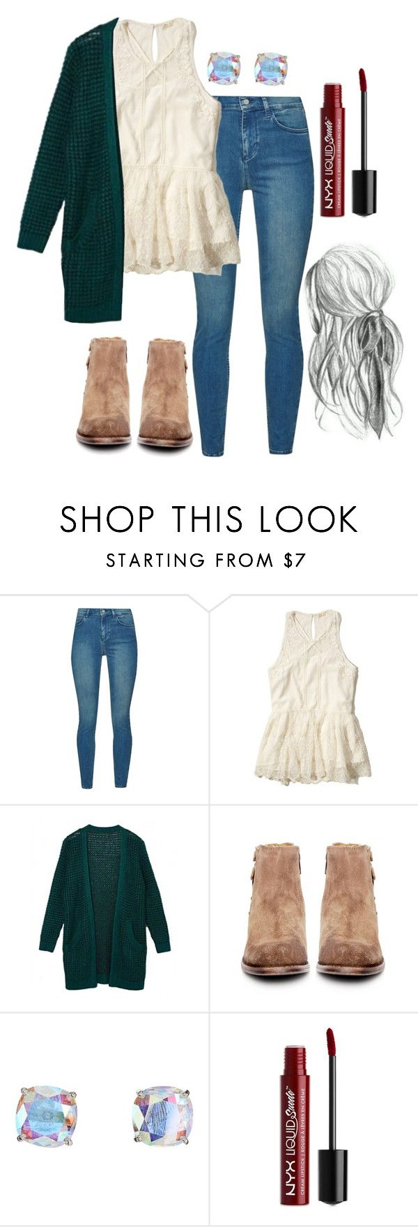"""""""lydia martin inspired outfit"""" by natashayoung ❤ liked on Polyvore featuring French Connection, Hollister Co., H by Hudson, Kate Spade and NYX"""