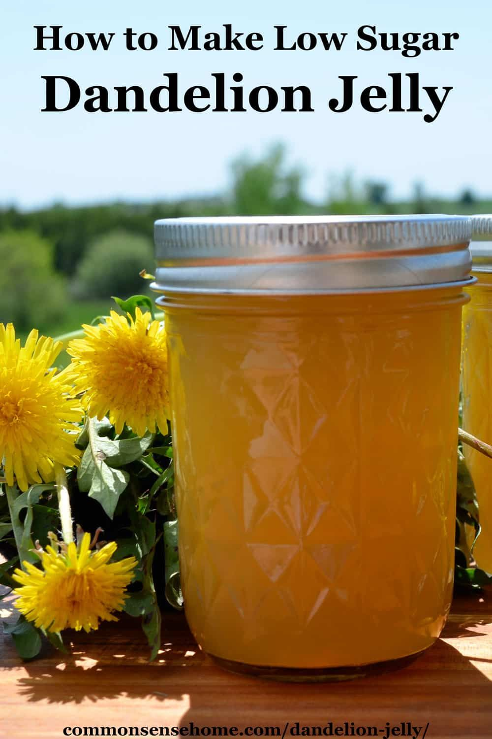 Dandelion Jelly With Less Sugar Recipe Jelly Recipes Dandelion Jelly Artificial Food Coloring