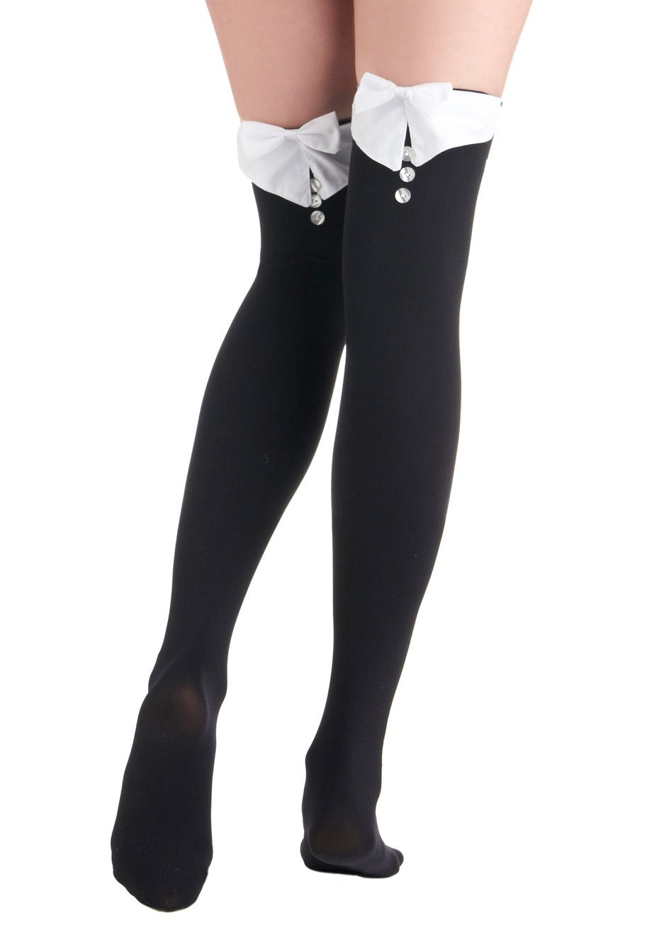 Womens Ladies Over The Knee Hold Up Stockings Socks Thigh High Bows Fancy Dress