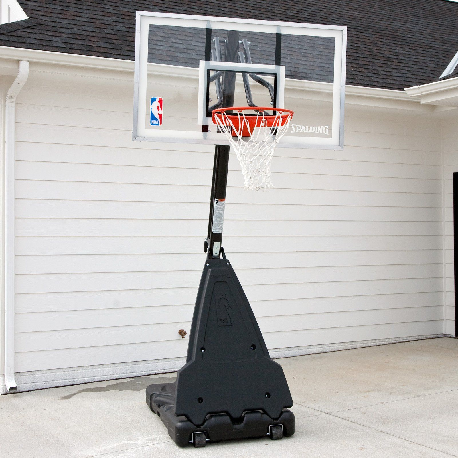 spalding pro style 54 inch acrylic portable basketball hoop system