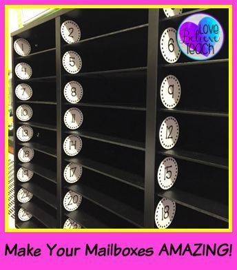 Mailbox Numbers Classroom Mailboxes Diy Classroom Classroom Organization Elementary
