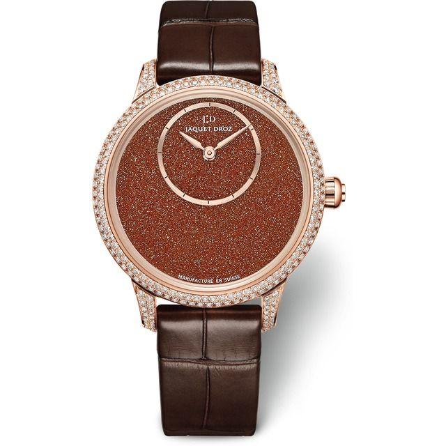 Jaquet Droz Petite Heure Minute 35mm Sunstone Diamonds Red Gold J005003271