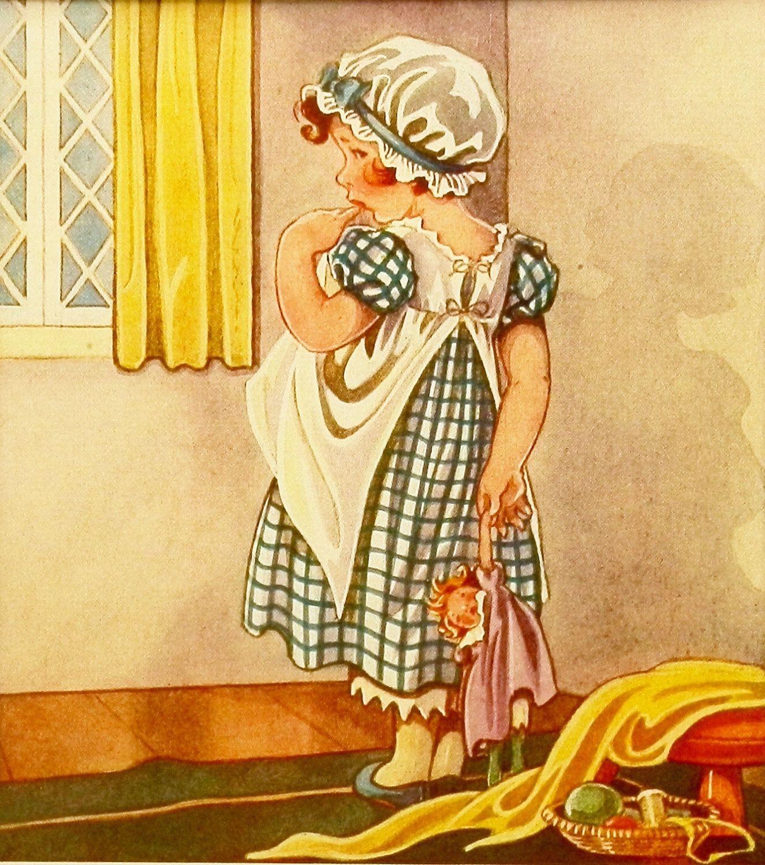 Nursery Rhyme Print, via Etsy. | Vintage Cards | Pinterest | Nursery ...