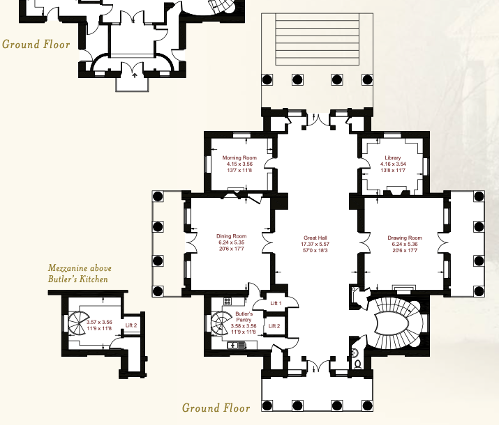 Henbury Hall First Floor Plan Main Level Vintage House Plans Floor Plans How To Plan