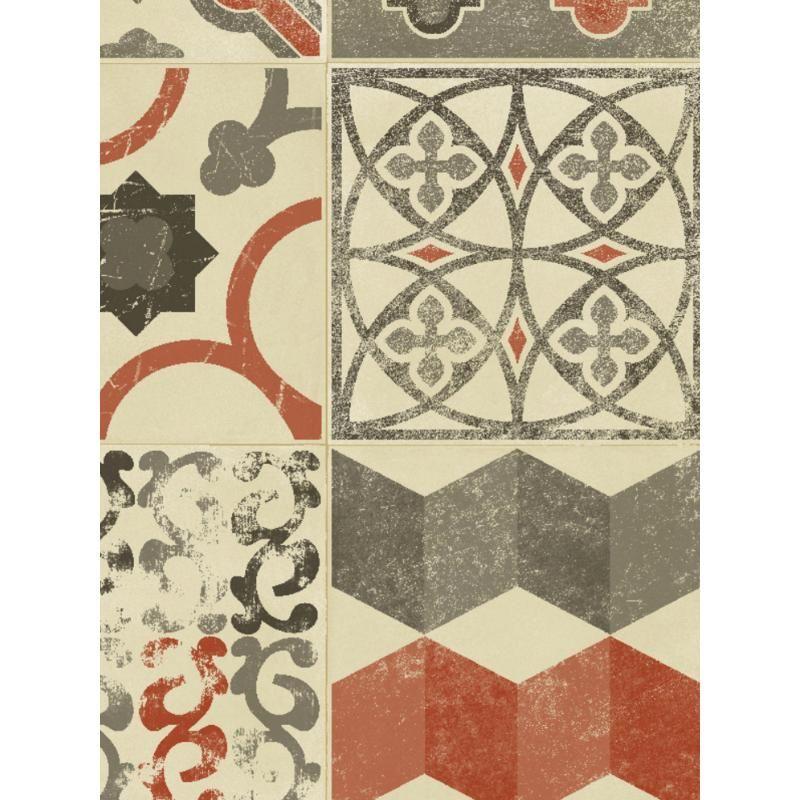 tapis vinyle pvc almeria carreaux de