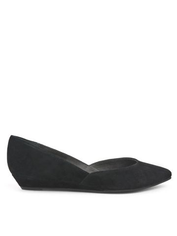 Skip a Beat, Suede. $90. This could be good with dresses OR jeans... pointy, with a deep V at the toes.