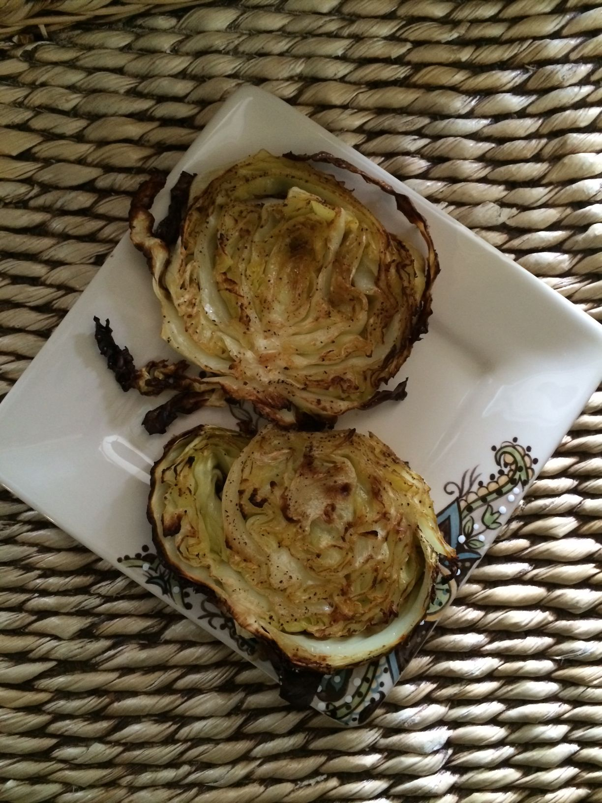Baked Cabbage Recipe Here: http://www.glowingwellness.com/1/post/2014/01/delicious-baked-cabbage-melt-in-your-mouth-good.html #healthy #cleaneating #vegetarian