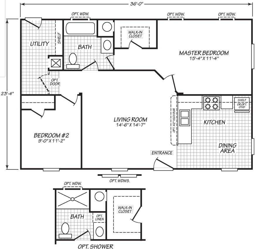 This Uncomplicated Mobile Home Is Jam Packed With High Quality Construction Features Foremost Amo Mobile Home Floor Plans Modern House Floor Plans Mobile Home