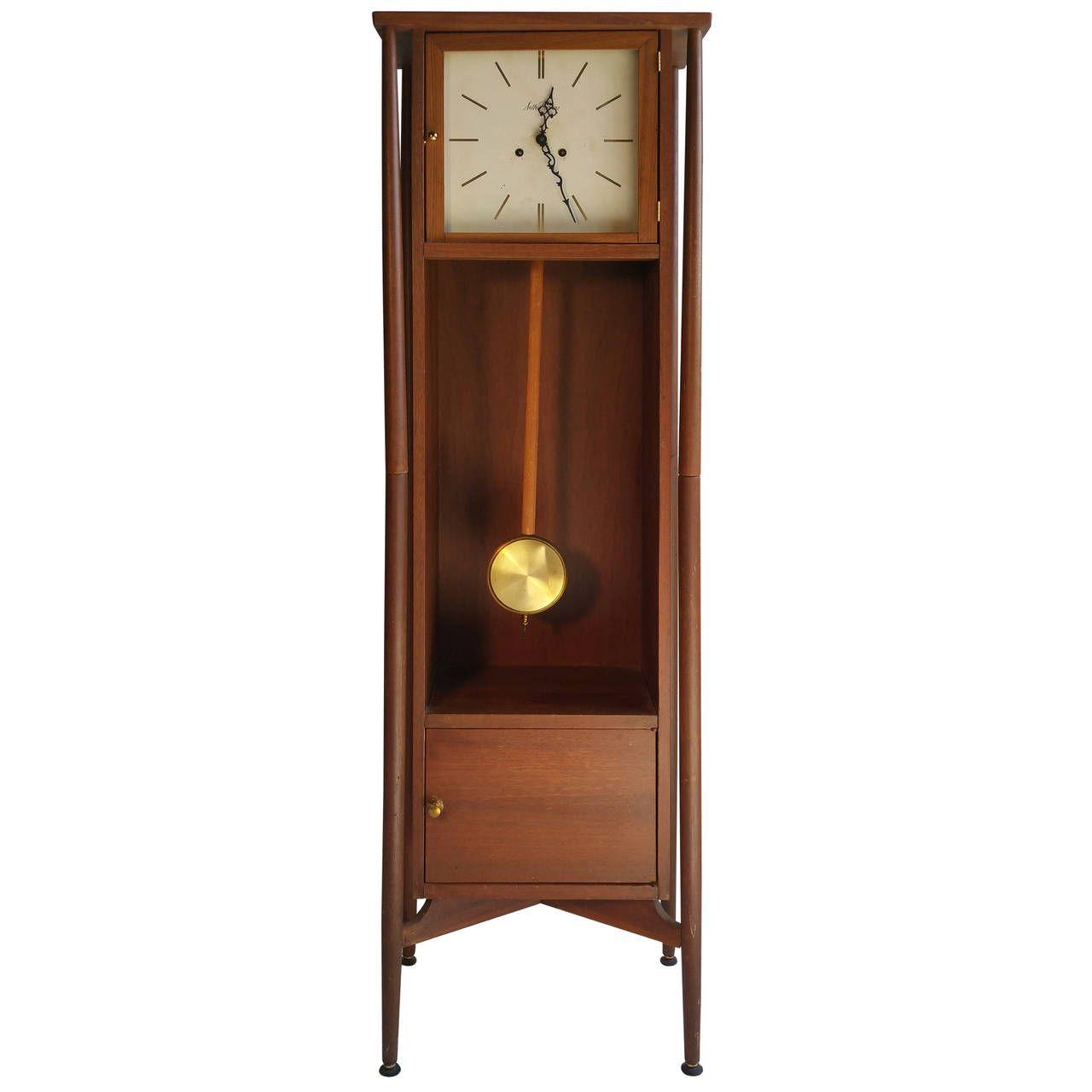 Danish Modern Grandfather Clock, Seth Thomas