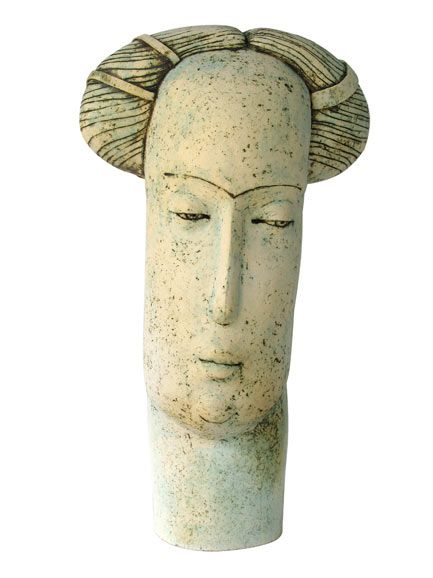 "Stella Zadros, ceramic sculpture- Townswoman from ""The Magical Krakow series"", 2006,  70 cm, www.stellaart.com"