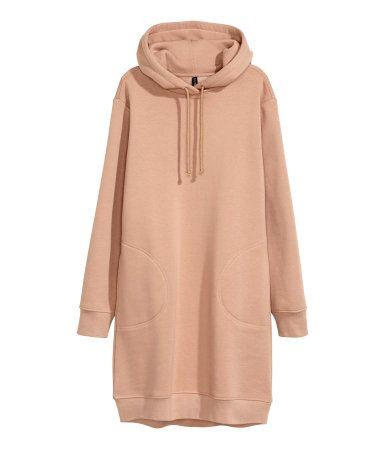 e148966e805 Hooded Sweatshirt Dress | Beige | Women | H&M US | Capsule Wardrobe ...