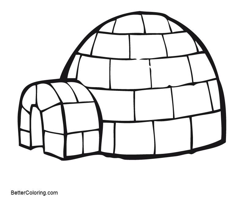 38 Free Coloring Page Of An Igloo Nel 2020