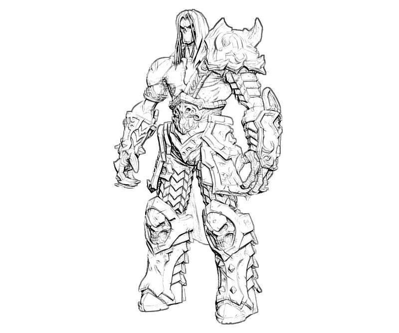 printable darksiders ii death characters coloring pages - Coloring Pages Characters 2