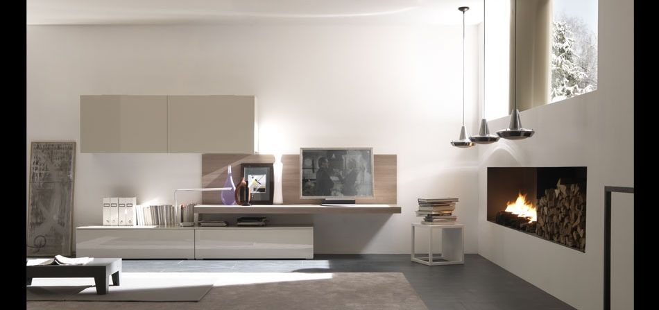 Europeo raster open space elements with wall hanging for Arredamenti moderni immagini
