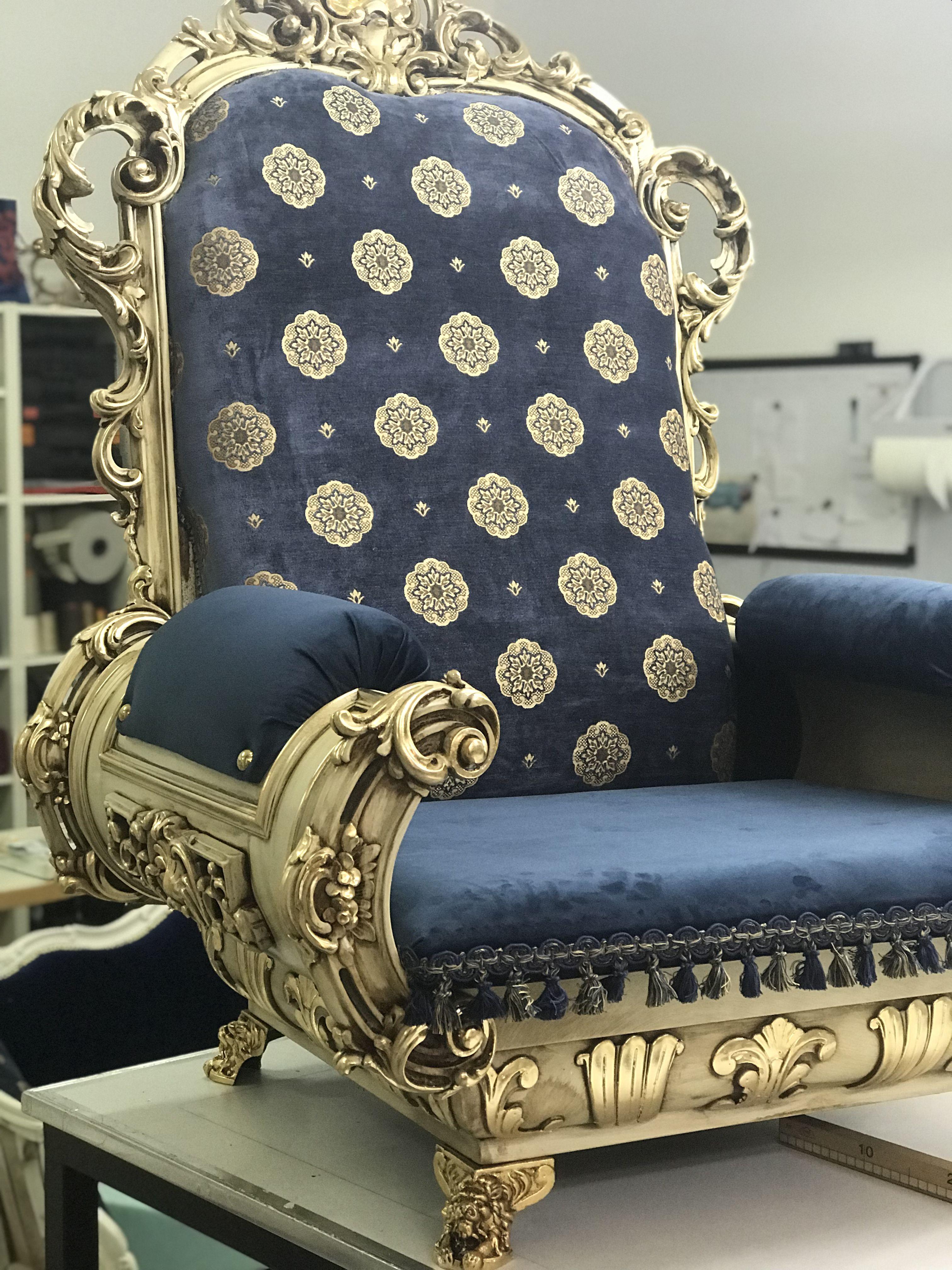 Set divano poltrone + tavolino barocco del 900 restaurato