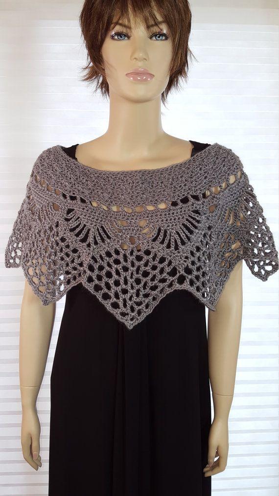 Crochet Poncho, Crochet Shawl, Crochet Top, Crochet Shrug, Crochet ...