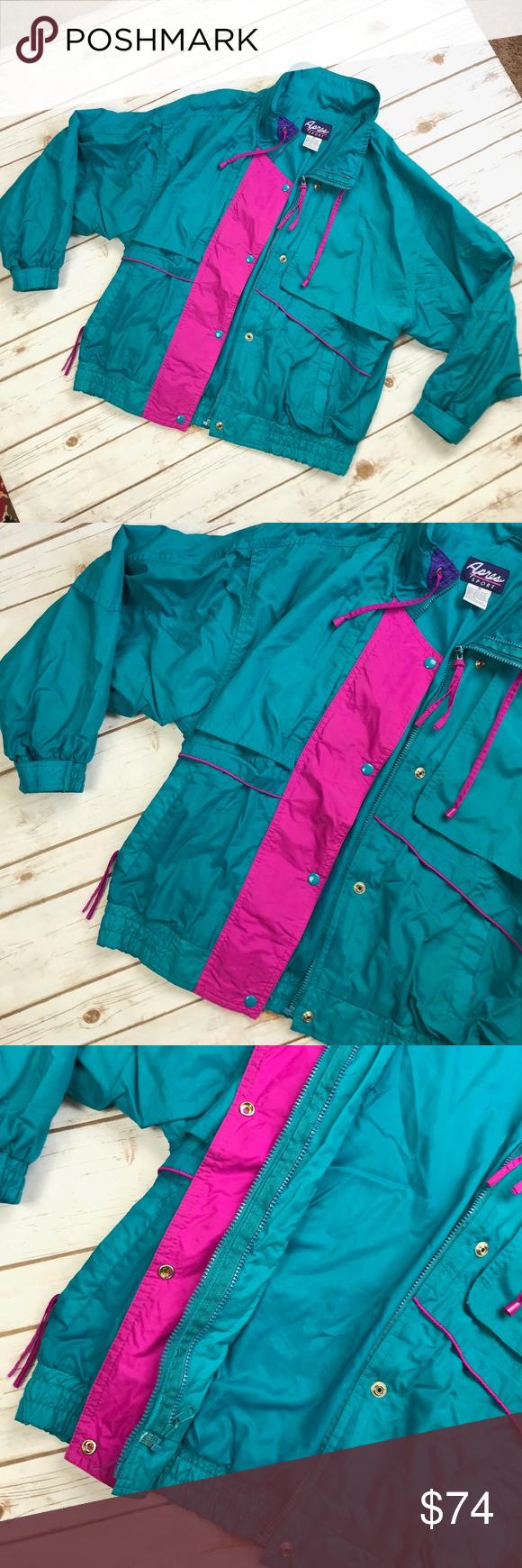 Vintage s apres sport turquoise ski jacket m my posh picks