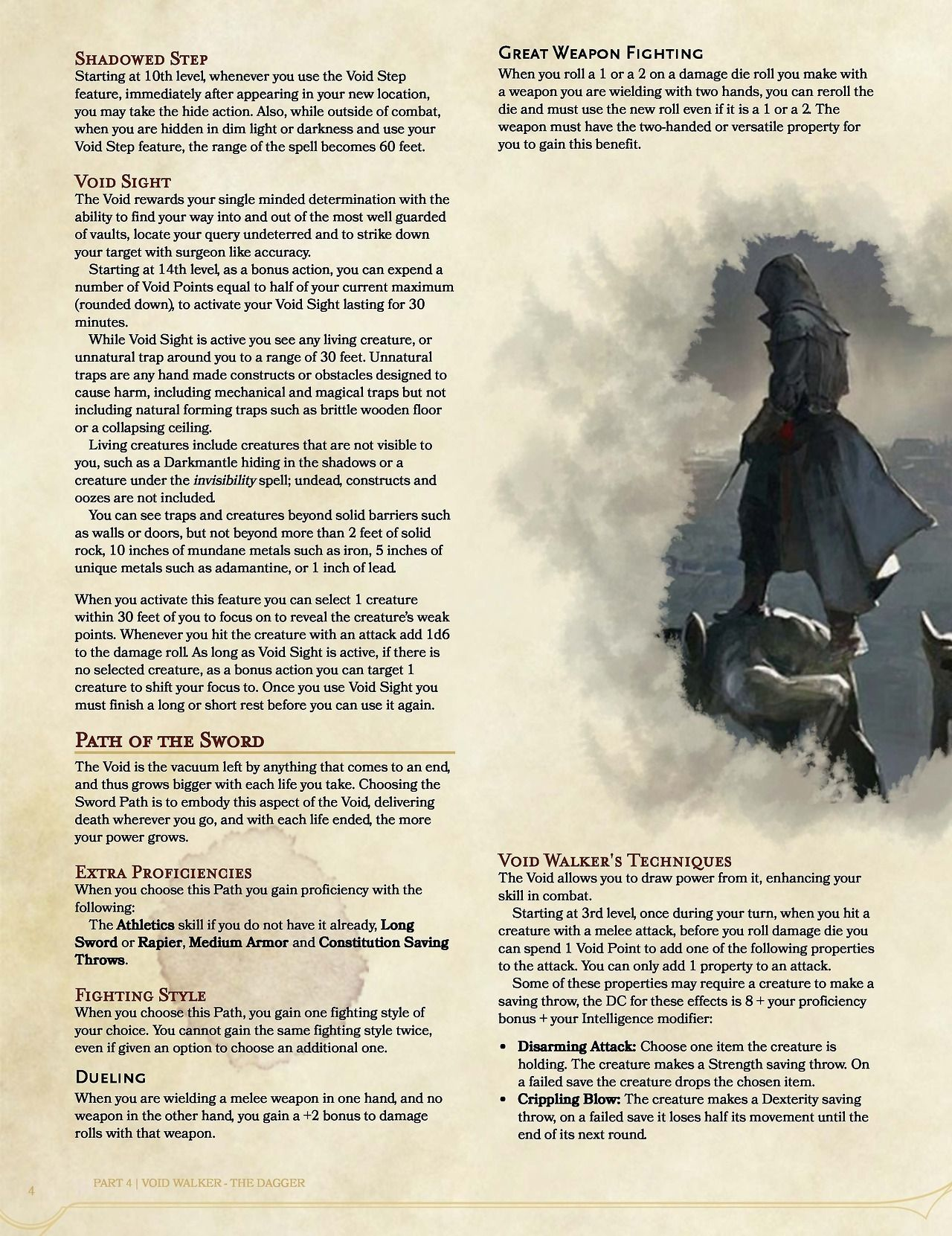 D&D n' stuff — A Dishonored-inspired homebrewed class I've