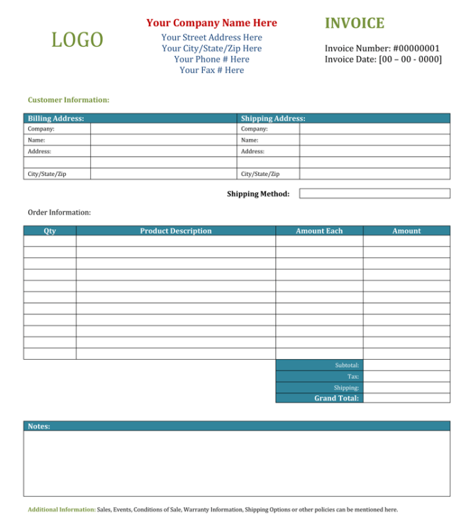 10 Blank Invoice Templates Word Excel Pdf Templates Invoice Template Word Invoice Template Photography Invoice Template
