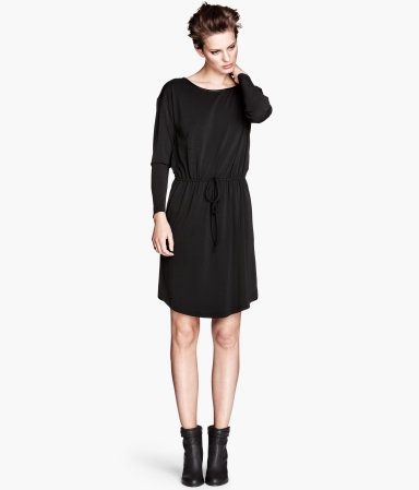 75729c028173 huge H and M Sale going on right now, Black Crepe Dress $15 | luxe ...