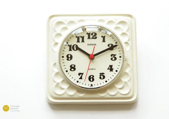 Space Age Europa Junghans Ceramic Wall Clock Panton Modern Mid