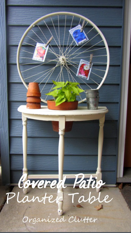 Covered Porch or Patio Planter Table Idea