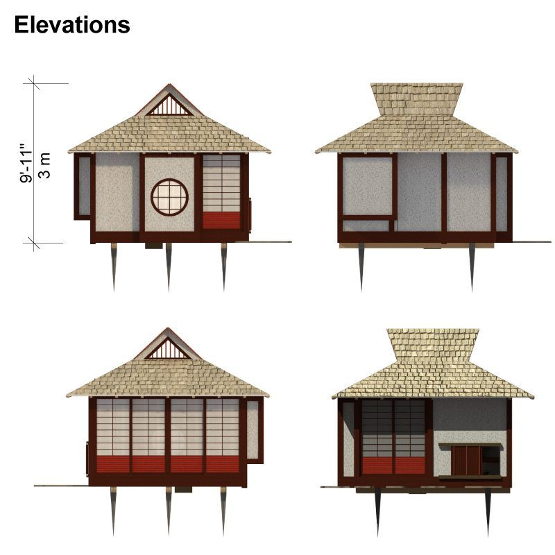 Japanese Tea House Plans | Japanese tea house, Building costs and ...