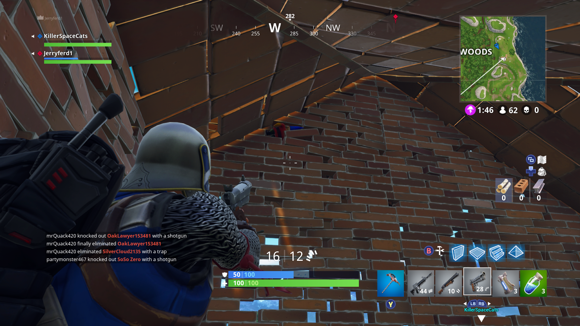 Just A Gnome Chillin In Me Wall Fortnite Noods Sci