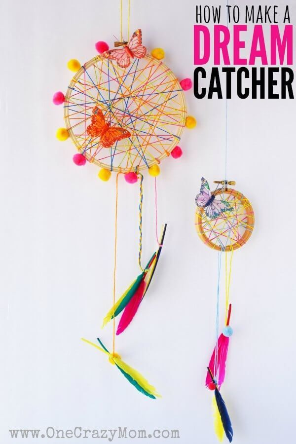 How To Make A DreamCatcher For Kids Fun And Colorful Craft Fascinating Children's Dream Catcher