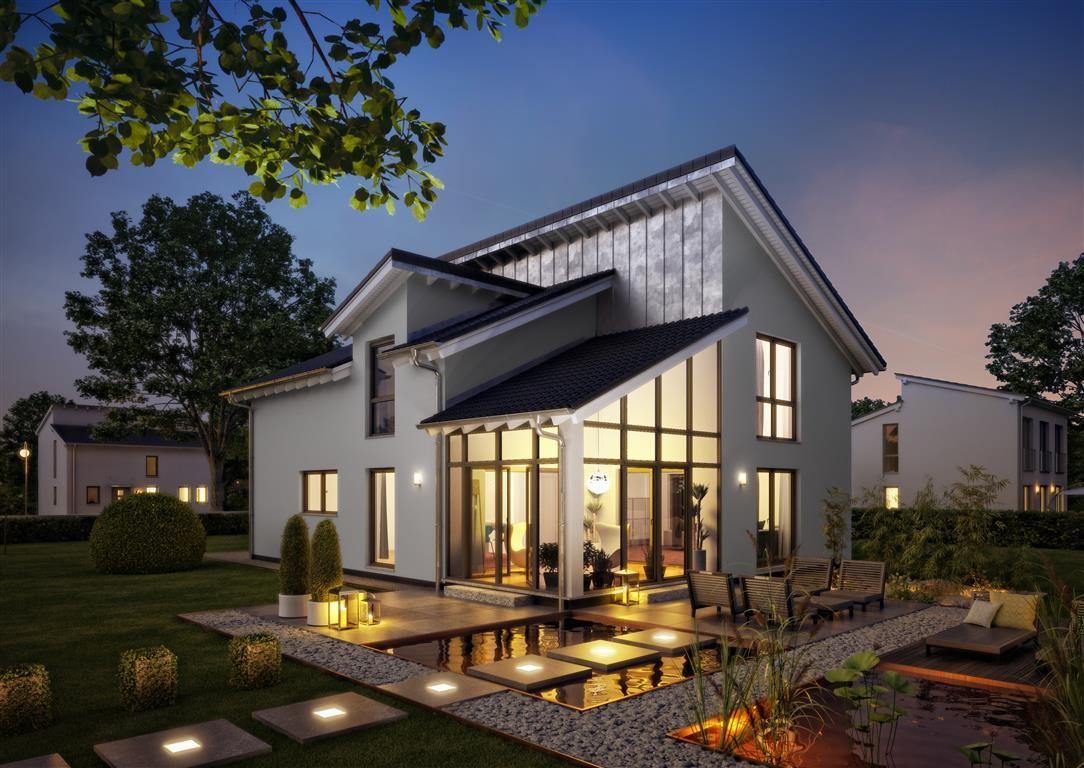 h user architektenhaus akzent aus w nden entstehen. Black Bedroom Furniture Sets. Home Design Ideas