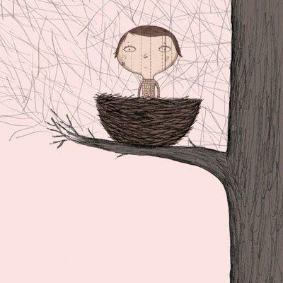 Boy in Nest by Nathalie Choux
