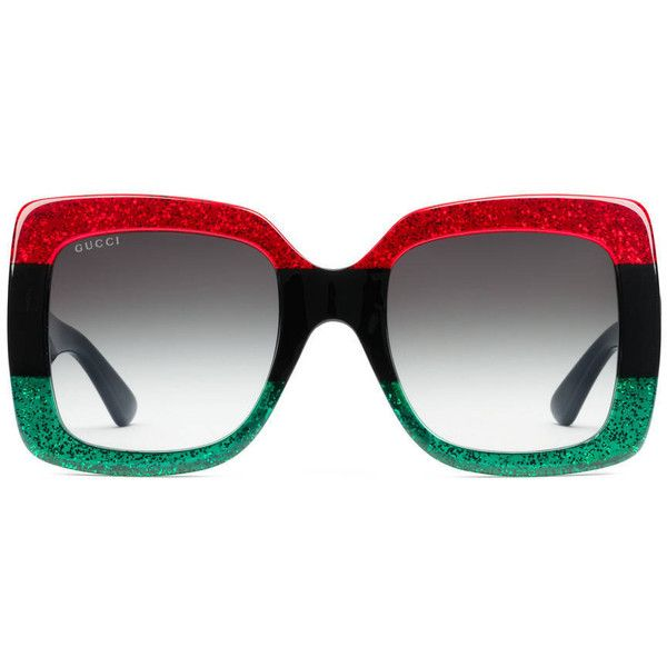 Gucci Square Frame Acetate Sunglasses 415 Liked On Polyvore Featuring Accessories Eyewear Sunglasses Women Gucci Eyewear Eyewear Womens Gucci Glasses