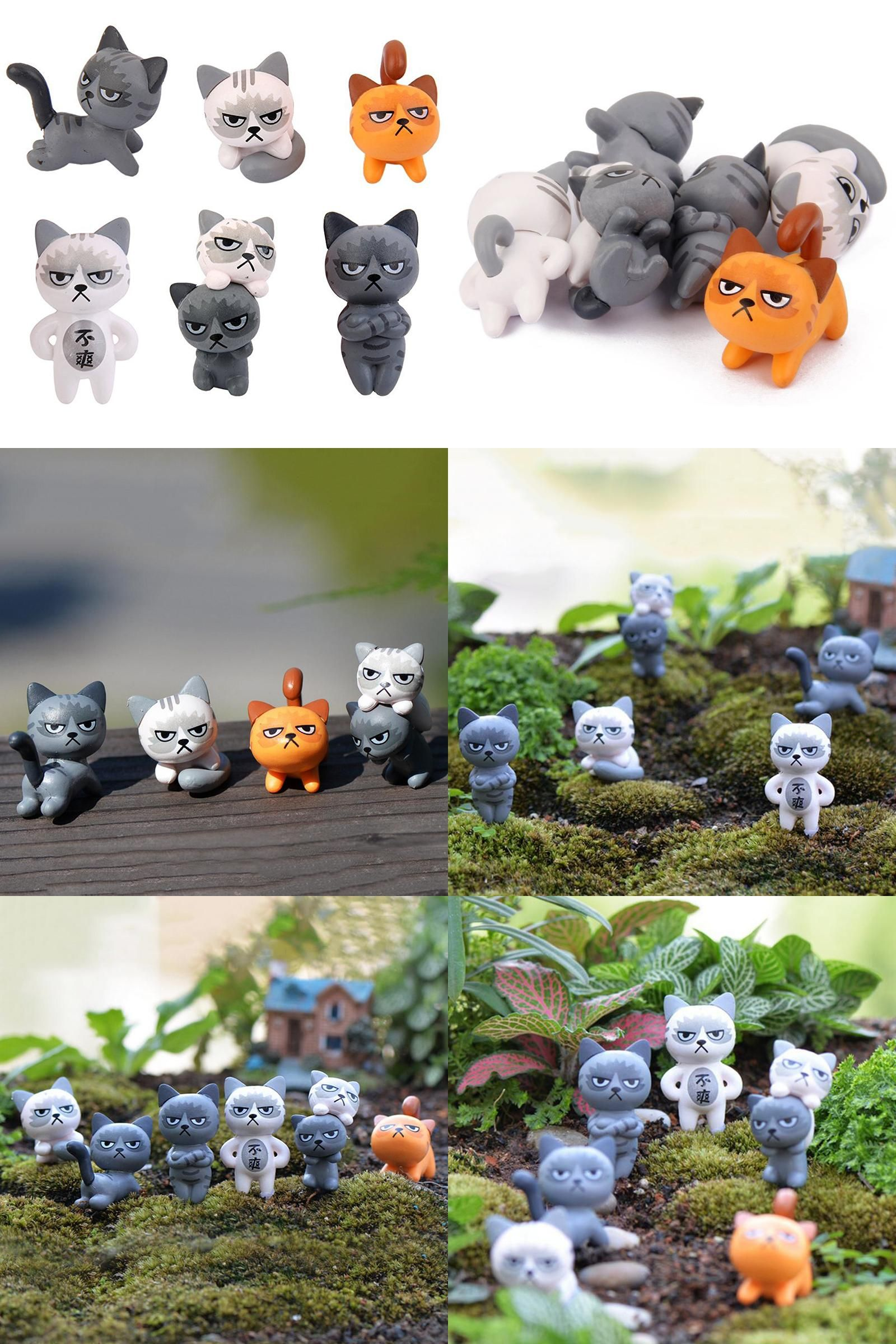 Visit to Buy] Best Selling 6 Pcs/Set Cute Cartoon Lazy Cats For ...