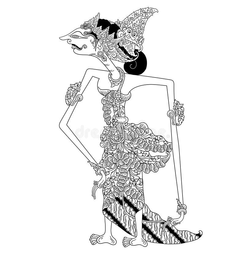 Banowati A Character Of Traditional Puppet Show Wayang Kulit From Java Indonesia Royalty Free Illustration Illustration Vector Images Shadow Puppets