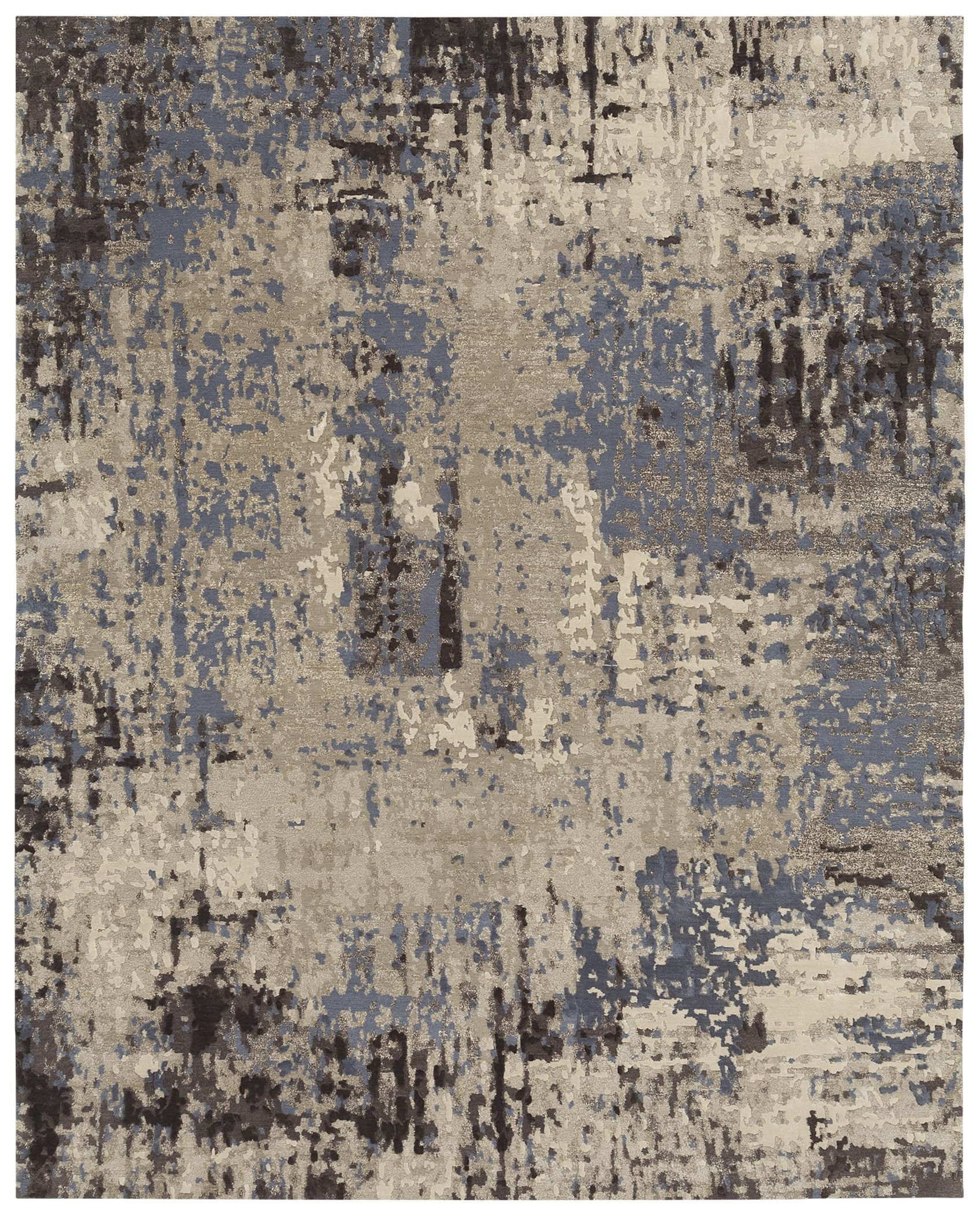 This contemporary rug is hand knotted in nepal from the for Modern grey carpet texture