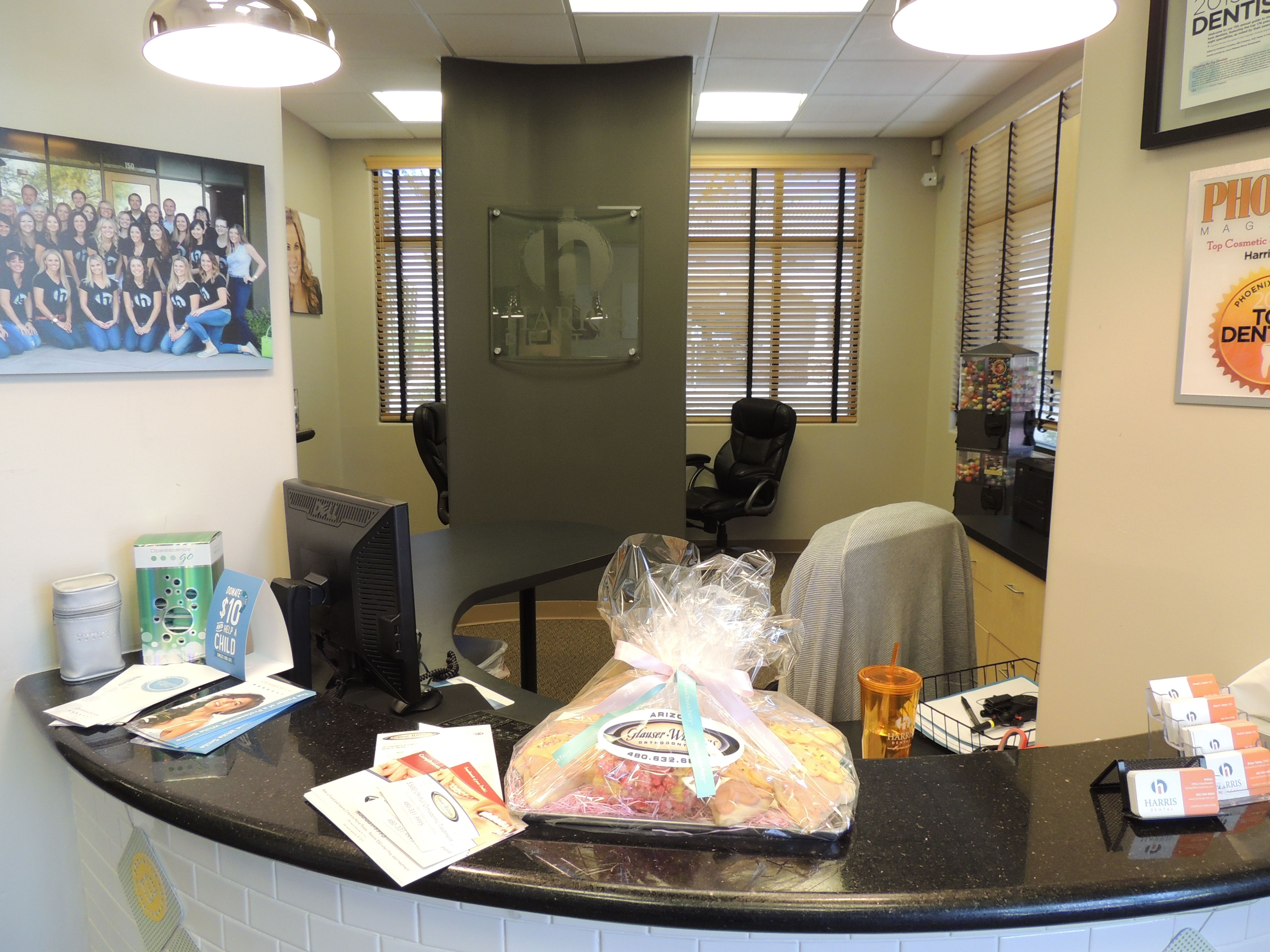 Harris dental mesa az delivered cookies to thank them for their