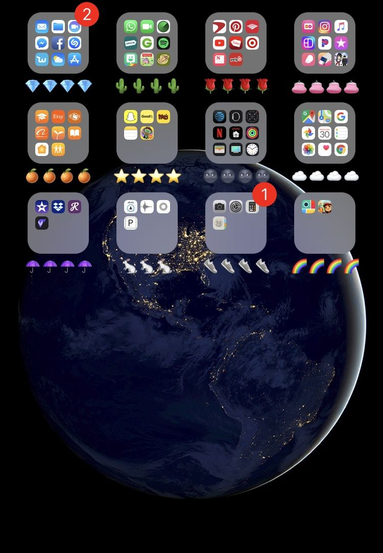 Color coded iPhone apps. Cute and organized Organize