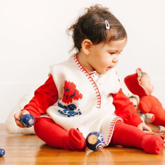 Robe Tricot Bébé Emma par BenedicteJoly sur Etsy