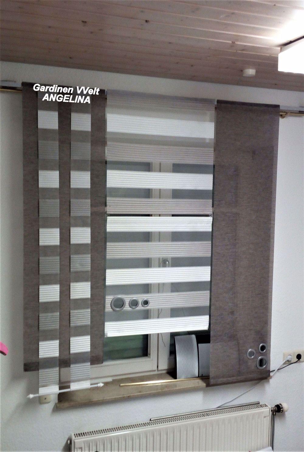 Gardinen Moderne Schiebegardinen Ein Designerstuck Von Gardinenweltangelina Bei Dawanda In 2020 Modern Window Design Sliding Curtains Diy Curtains