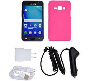 Samsung Galaxy Luna TracFone Smartphone with Case, and 1200 Mins/Texts/Data
