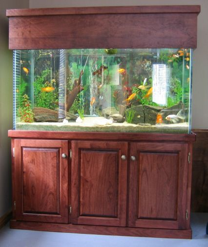 Aquarium Stand Cherry Wood Made At Karls Woodworking Aquarium Fish Tank Games Nature Aquarium