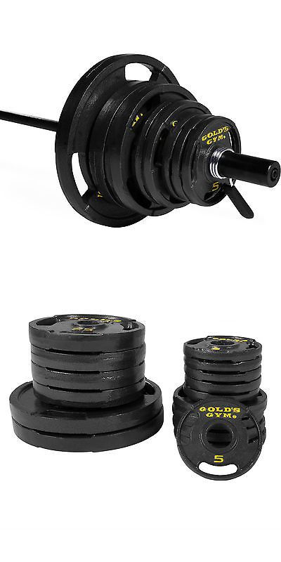 Weight Plates 179817 300Lb Olympic Weight Plate Set W 7 Bar Home Gym Exercise Cast  sc 1 st  Pinterest & Weight Plates 179817: 300Lb Olympic Weight Plate Set W 7 Bar Home ...